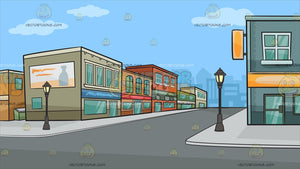 A Row Of Suburban Shops Background