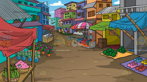 A Rural Street Market Background