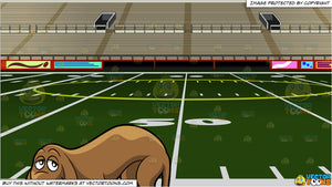 new styles 1187e a9aa1 A Sad Hound Dog and Empty Football Stadium Background