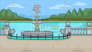 A Scenic Fountain Background