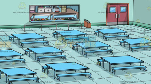 A School Cafeteria Background