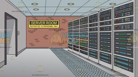 A Server Room Background