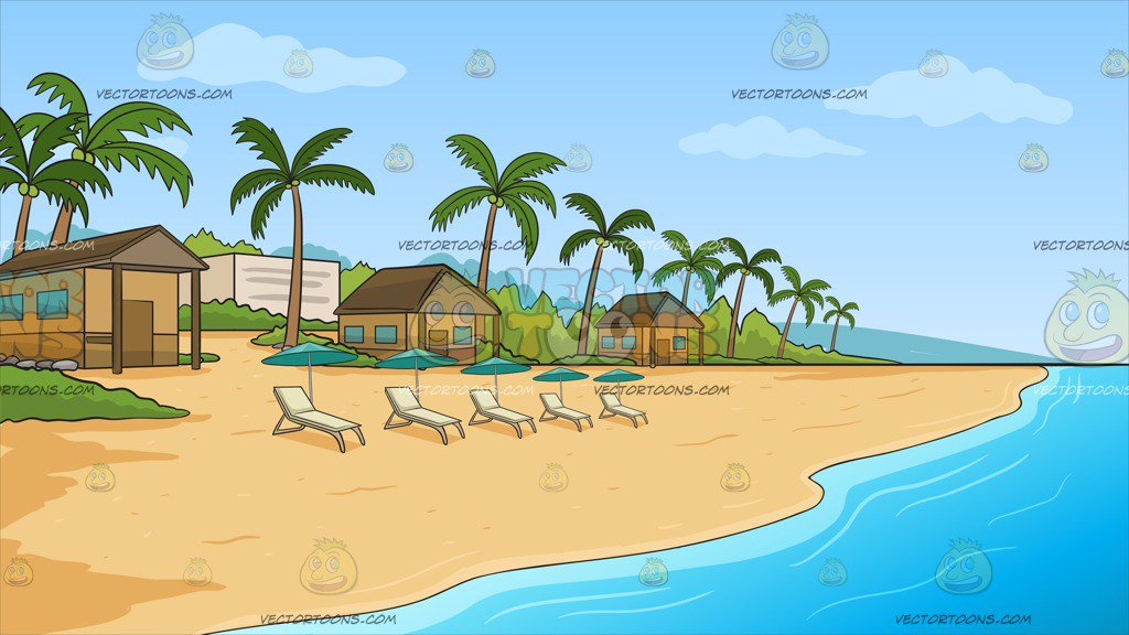 A Simple Beach Front Resort Background