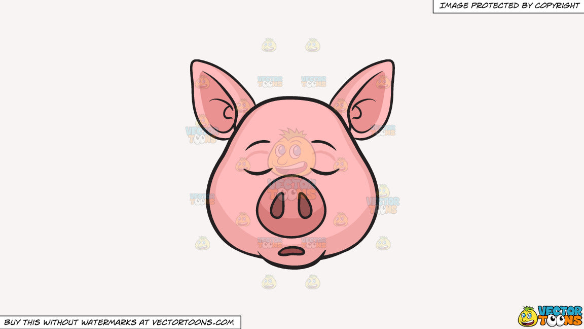 Pig sleeping. Clipart a on solid