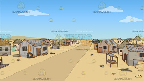 A Slum Neighborhood In The Middle Of Nowhere Background