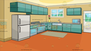 A Small Apartment Kitchen Background