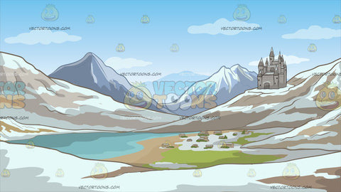 A Small European Mountainside Kingdom Background