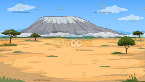 A Small Mountain In The Middle Of A Desert Background