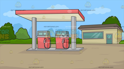 A Small Town Gasoline Station Background