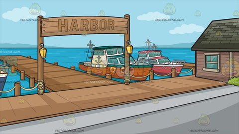 A Small Town Harbor Background