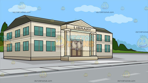 A Small Town Library Background