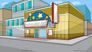 A Small Town Movie Theater Background