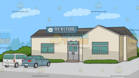 A Small Town Real Estate Office Background