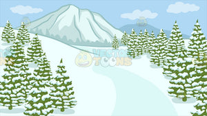 A Snowy Landscape Background