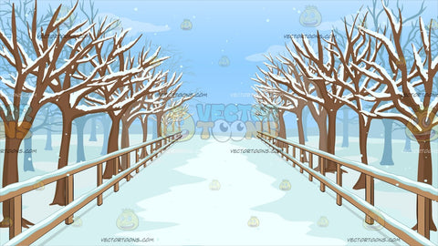 A Snowy Walkway Background
