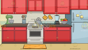 A Stove In The Kitchen Background