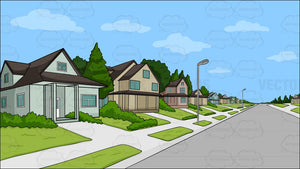 A Suburban Neighborhood Background
