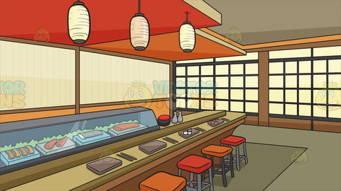 A Sushi Bar Background