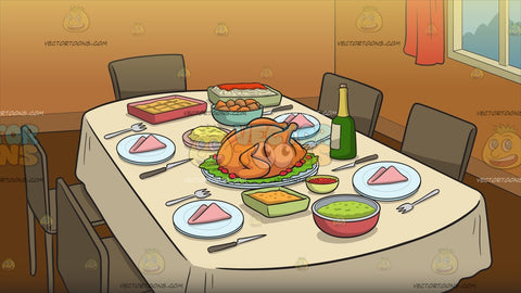 A Table Set For Thanksgiving Background