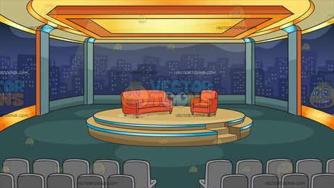 A Talk Show Studio Background