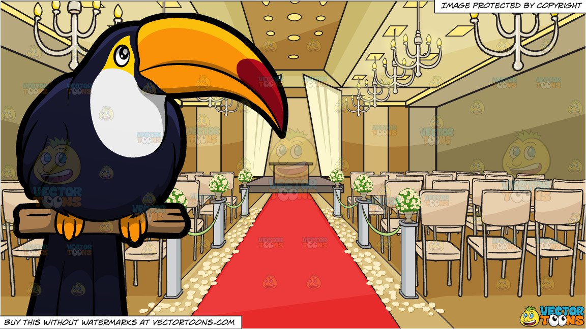 A Toucan And A Romantic Wedding Aisle Background