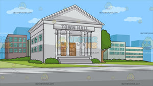 A Town Hall Background