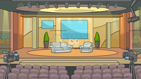 A Tv Studio Set Background