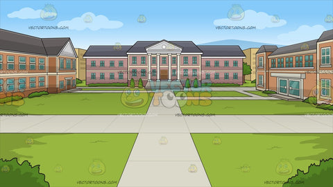 A University Quad Background