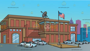 A Us City Police Station Background