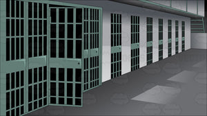 A View Of A Prison Cell Row