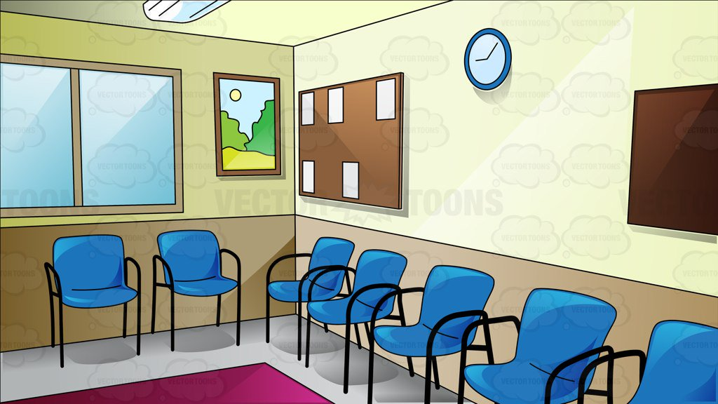 A Waiting Area Of An Office Clipart Cartoons By Vectortoons