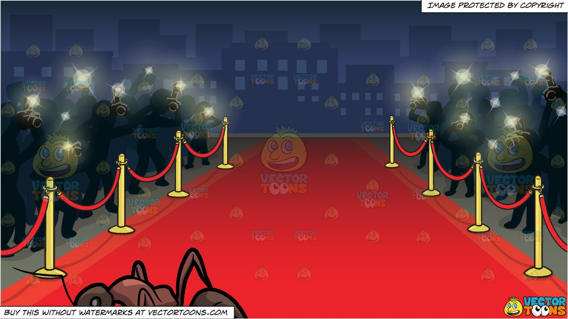 A Watchful Carpenter Ant And Red Carpet Premiere Background Clipart Cartoons By Vectortoons