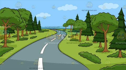 A Winding Country Road Background