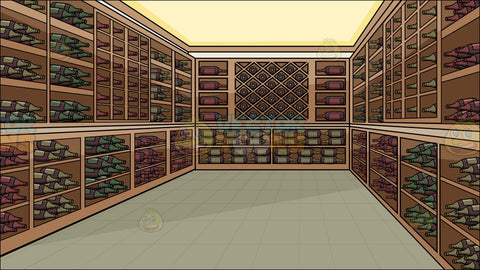 A Wine Cellar Background