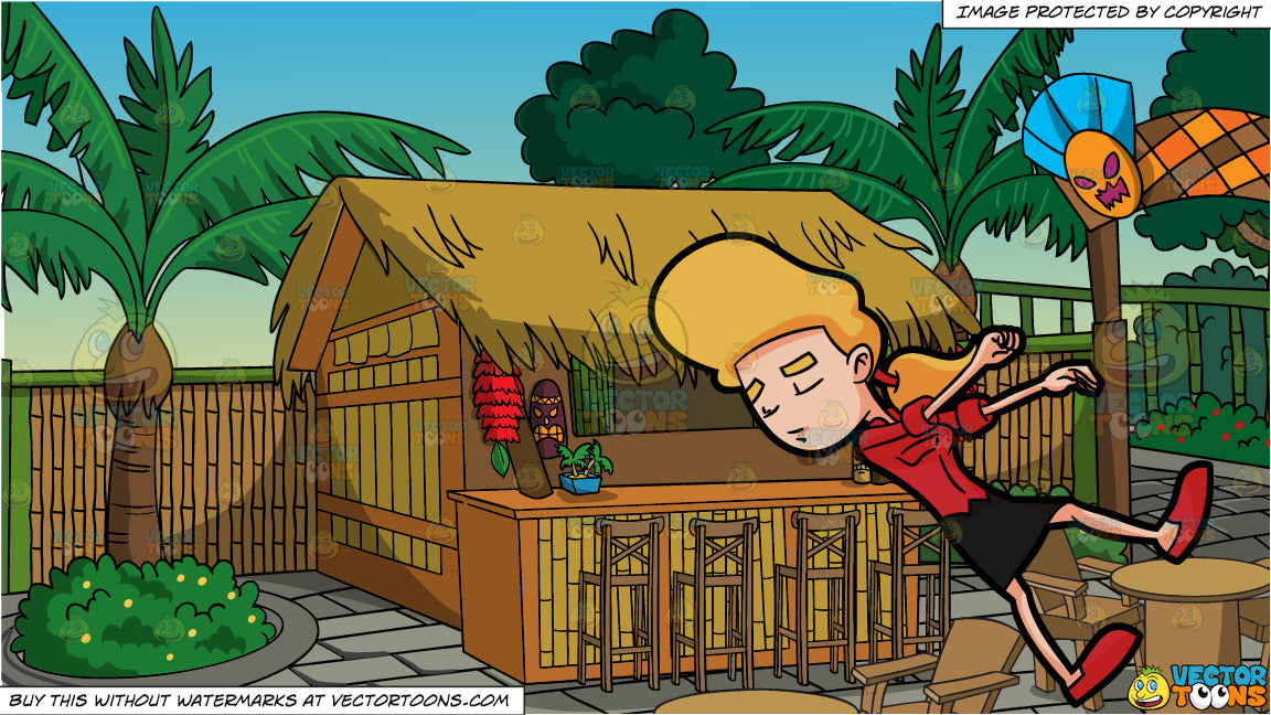 Prime A Woman Passing Out And A Tiki Bar Background Beutiful Home Inspiration Aditmahrainfo