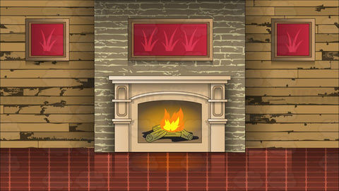 A Wood Burning Fireplace And Mantle Background