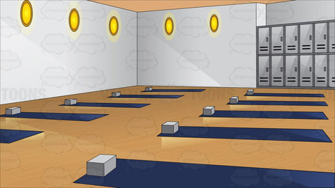 A Yoga Studio With Lockers