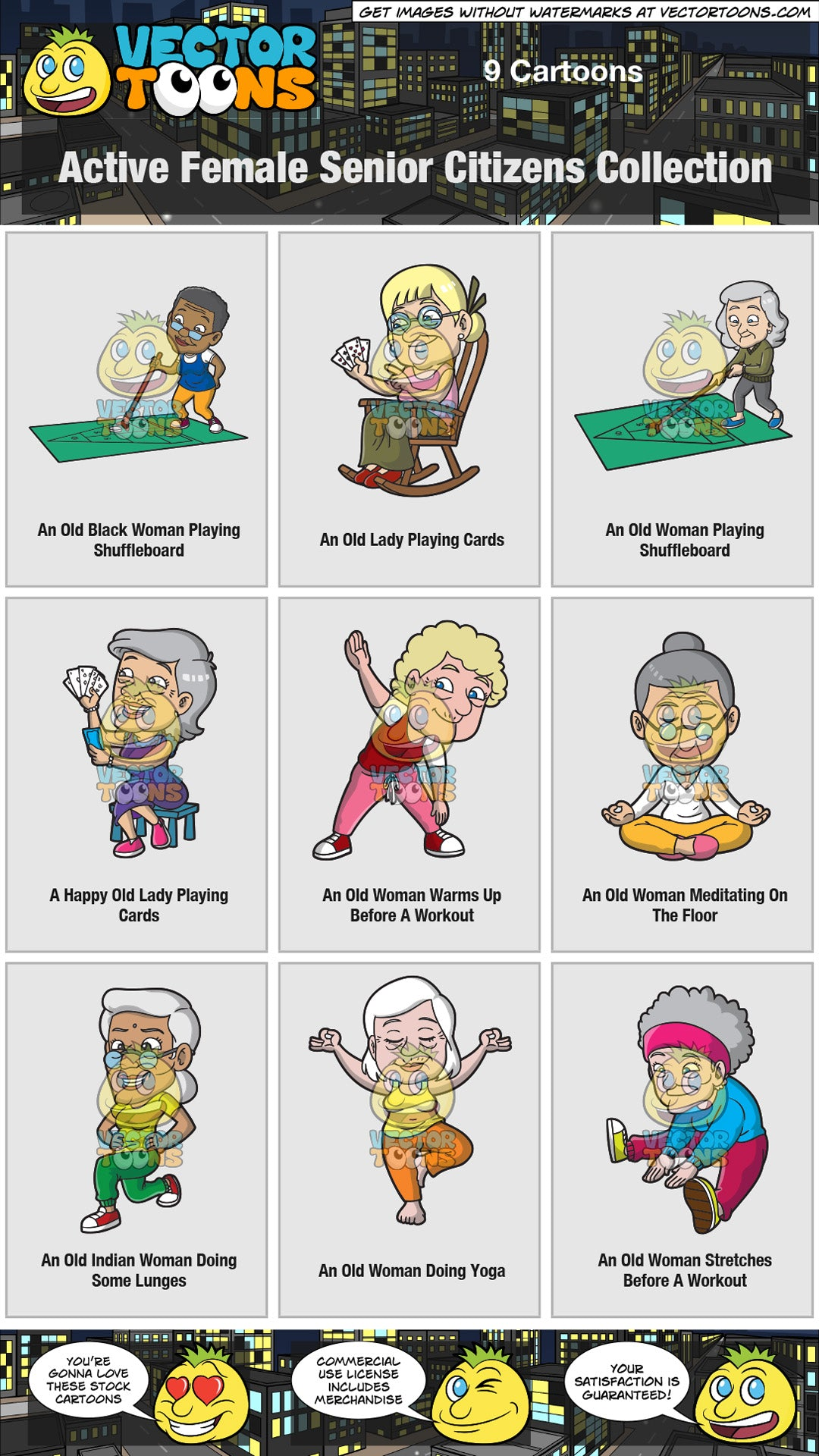 Active Female Senior Citizens Collection