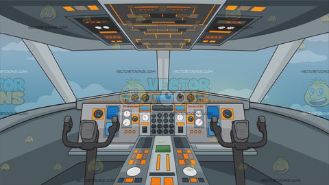 Airplane Cockpit Background