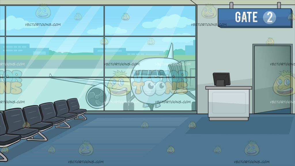 Airport Boarding Gate Background