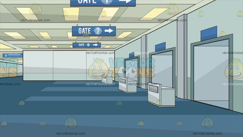 Airport Departure Gate Background