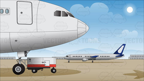 Airport Runway Background