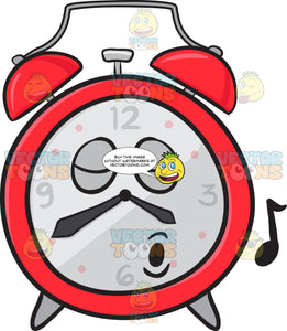 Alarm Clock Singing Pleasurably Emoji