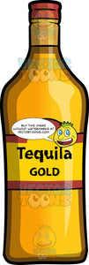 A Bottle Of Gold Tequila