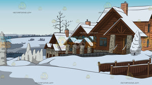 Alpine Ski Cottages Background