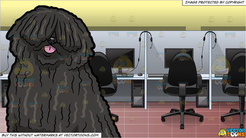 An Adorable Puli Dog and Inside A Call Center