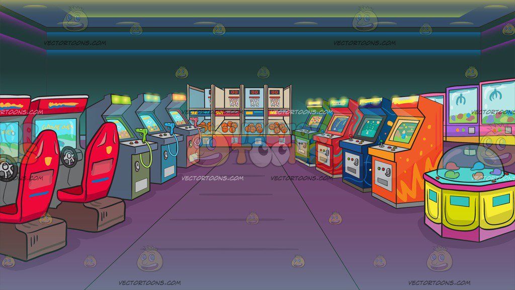 An Arcade Filled With Games Background