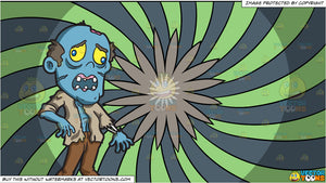 An Awkward Looking Zombie and A Psychedelic Flower Background