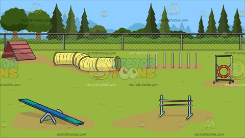 An Dog Agility Course Background