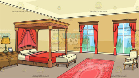 An Elegant Grand Bedroom Background